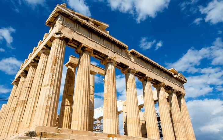 Руины Храма Парфенон