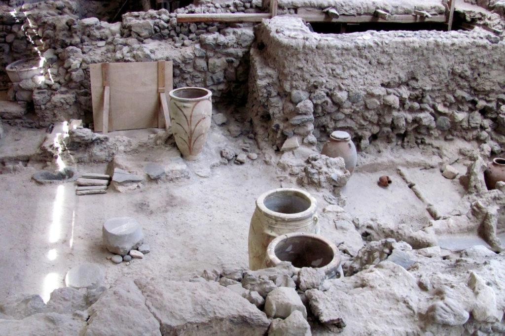 Раскопки Акротири